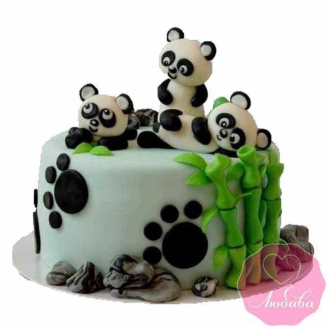 Торт детский панды №2390