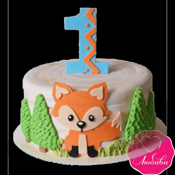 Торт детский с лисичкой на годик №2395