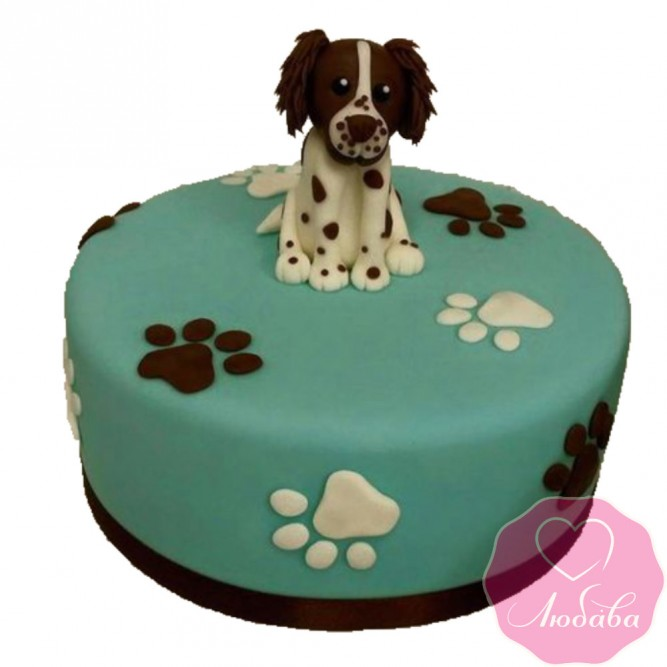 Торт детский с собакой №2404