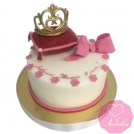 Торт детский с короной №2438
