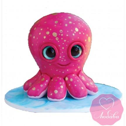 Торт детский осьминог №2446