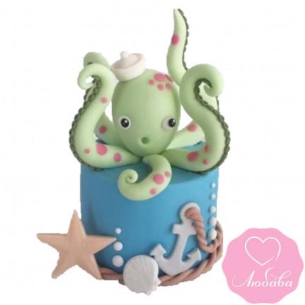 Торт детский с осьминогом №2447