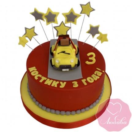Торт детский с машиной №2456