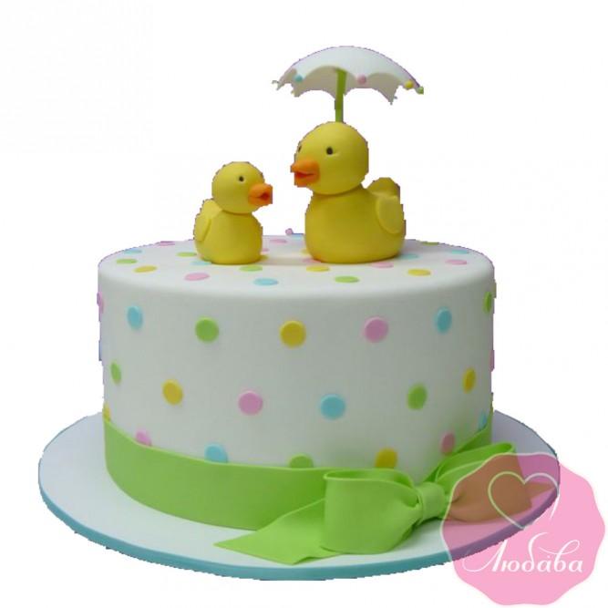 Торт детский с утками №2458