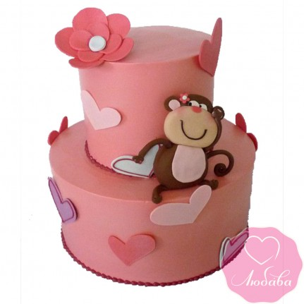 Торт детский с обезьяной №2459