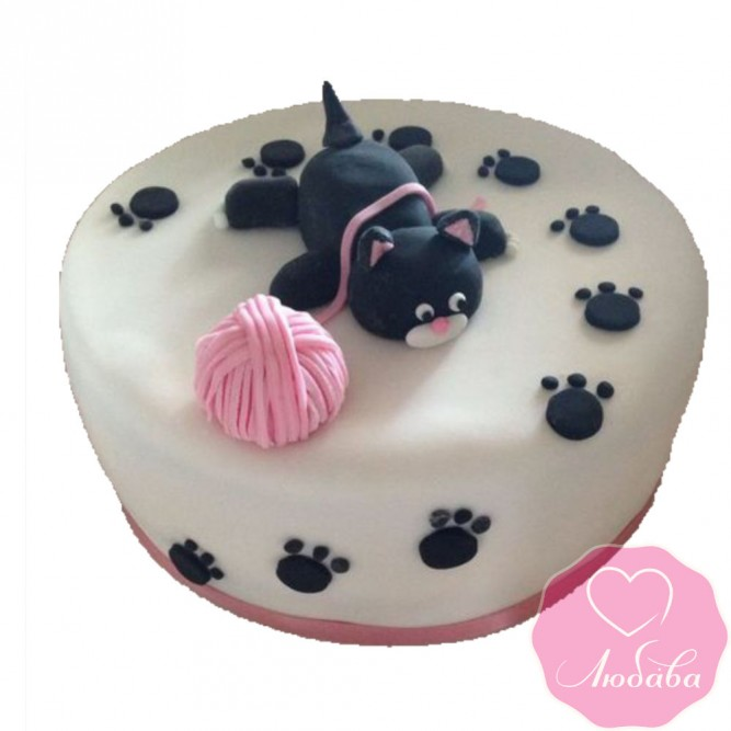 Торт детский кот и клубок №2495