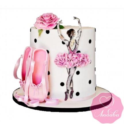 Торт детский для балерины №2500
