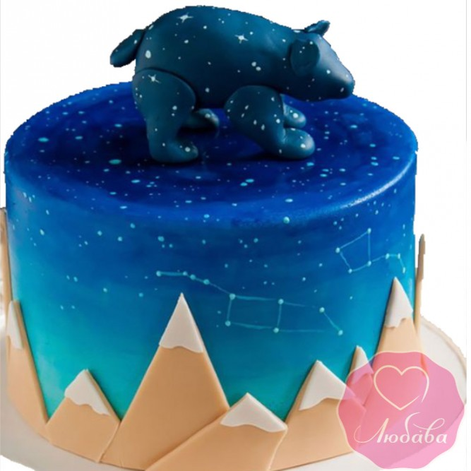 Торт детский большая медведица №2536