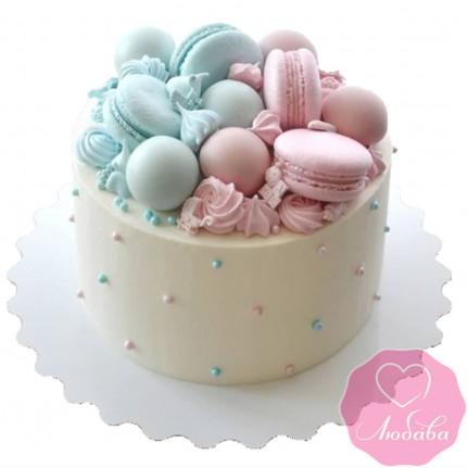 Торт детский двойняшкам №2578