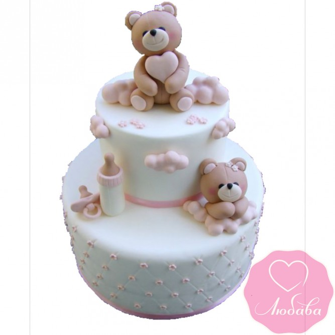 Торт детский мишки №2582
