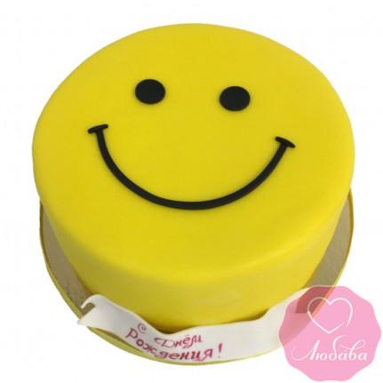 Торт детский смайлик №2583