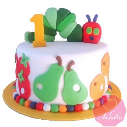 Торт детский гусеница №2601