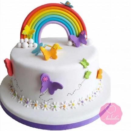 Торт детский с радугой №2664
