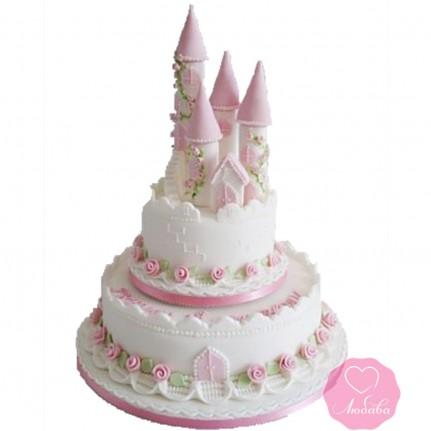 Торт детский с замком №2694