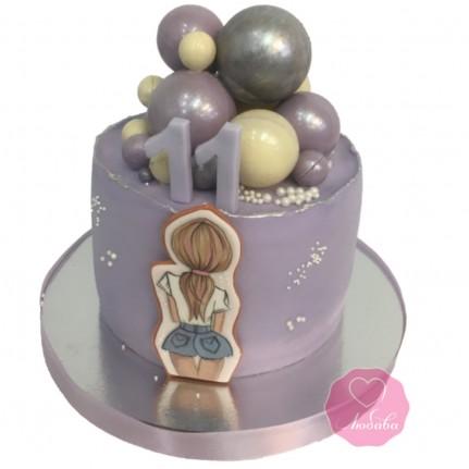 Торт детский с рисунком для девочки №2734