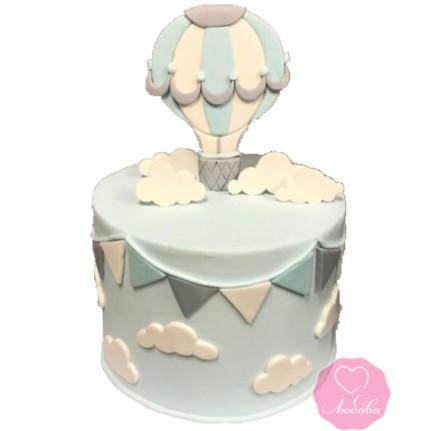 Торт на день рождения с воздушным шаром №2741