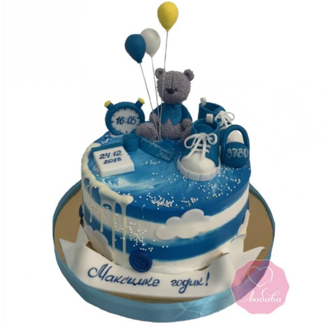 Торт детский на годик №2764