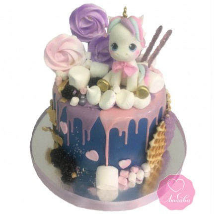 Детский торт единорог №2779