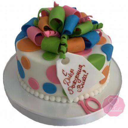 Торт в виде подарка №2795