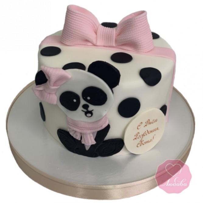 Торт с пандой для девочки №2839