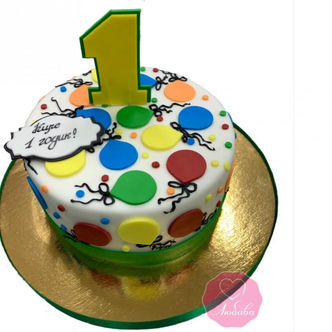 Торт на 1 годик девочке №2846