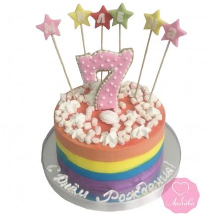Торт цветной №2847