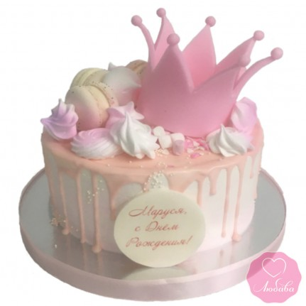 Торт с короной №2858