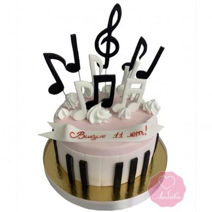 Торт с нотами №2862