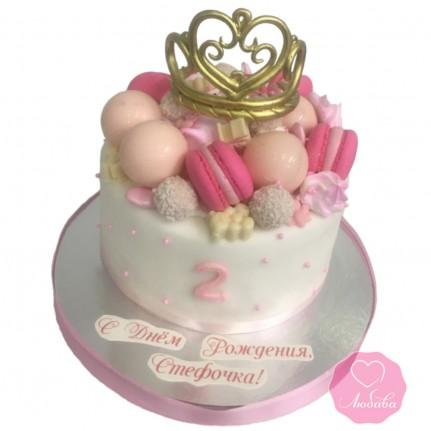 Торт с короной для девочки №2869