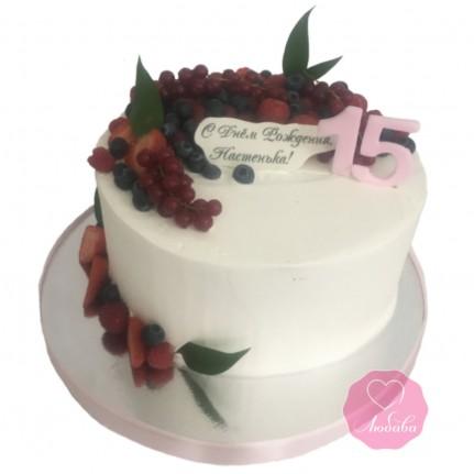 Торт для девочки с ягодами №2888