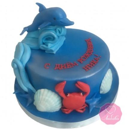 Торт с дельфином №2912