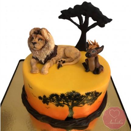Торт со львом №2914