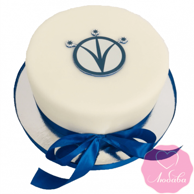 Торт корпоративный с логотипом №2357