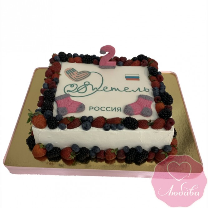 Торт корпоративный для клуба 28 петель №2531