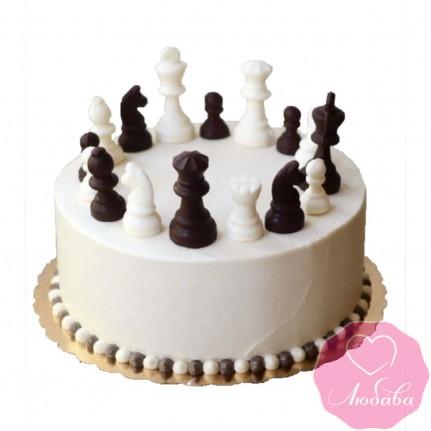 Торт без мастики шахматы №2502