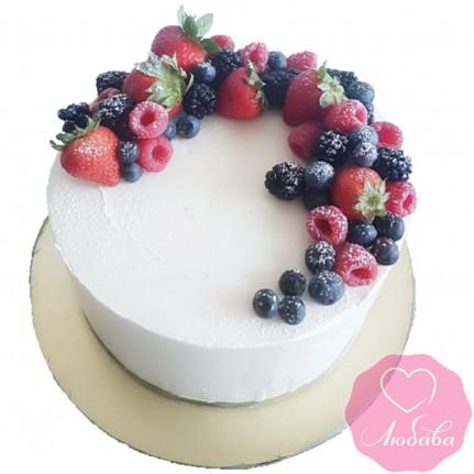 Торт постный с ягодами №2580