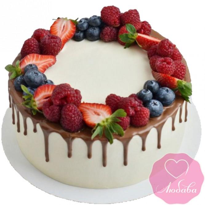 Торт безглютеновый с ягодами №2592