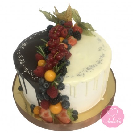Торт безглютеновый два шоколада №2697