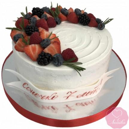 Торт диабетический на день рождения №2701