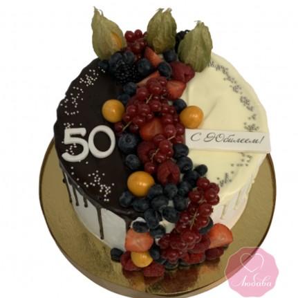 Торт без мастики два шоколада №2754