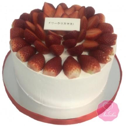 Торт диабетический с клубникой №2768