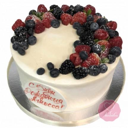 Торт на день рождения девочке без мастики №2791