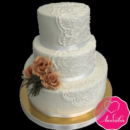 Торт свадебный белый №2128