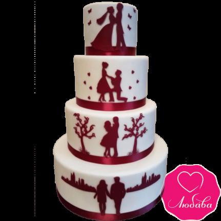 Торт свадебный история №2138
