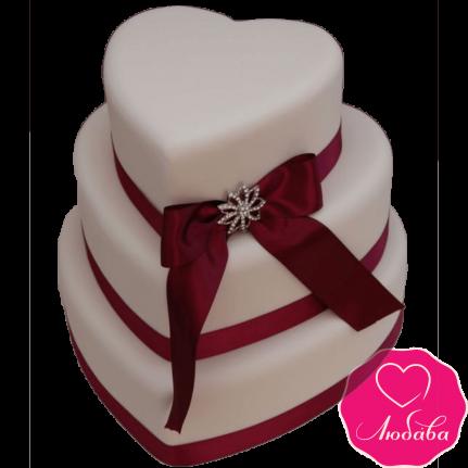 Торт свадебный сердце №2139
