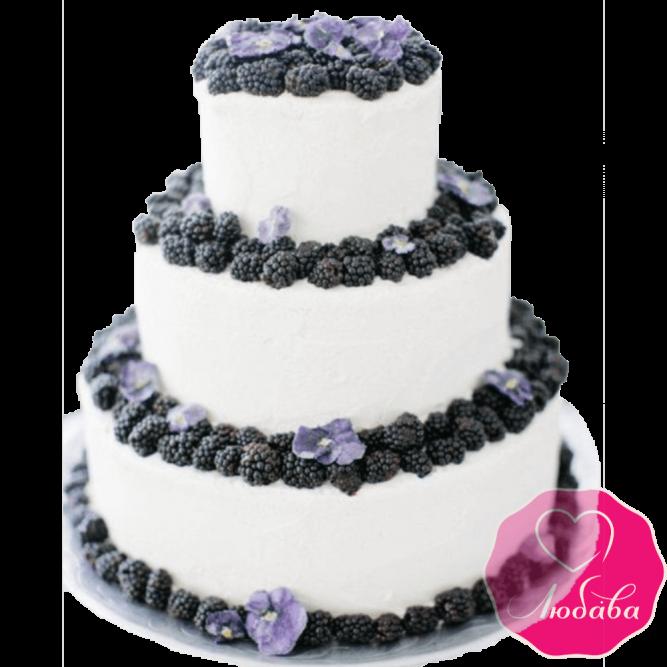 Торт свадебный с ягодами №2152