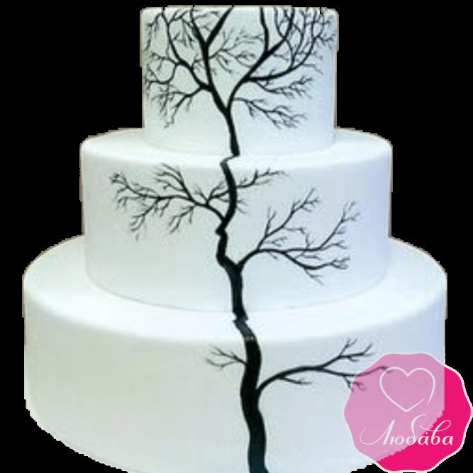 Торт свадебный белый №2179