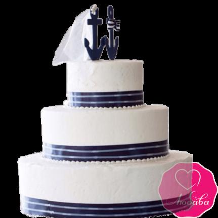 Торт свадебный яхтсменам №2201