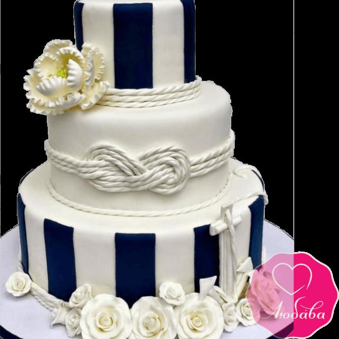Торт свадебный морской №2202