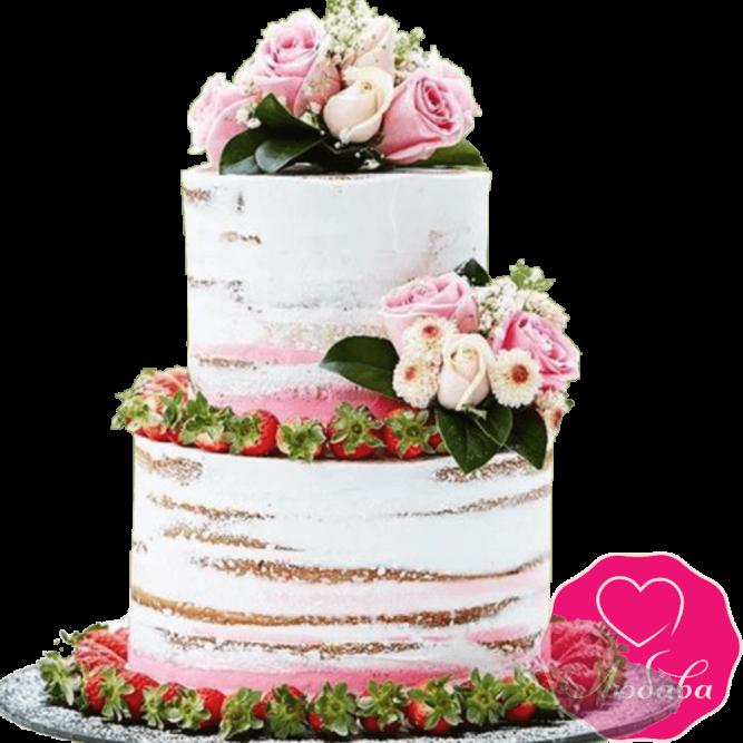 Торт свадебный летний №2246